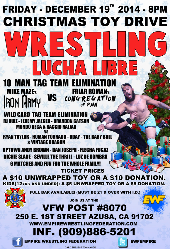 Friday December 19th in Azusa, CA @ VFW Post #8070 | Azusa | California | United States