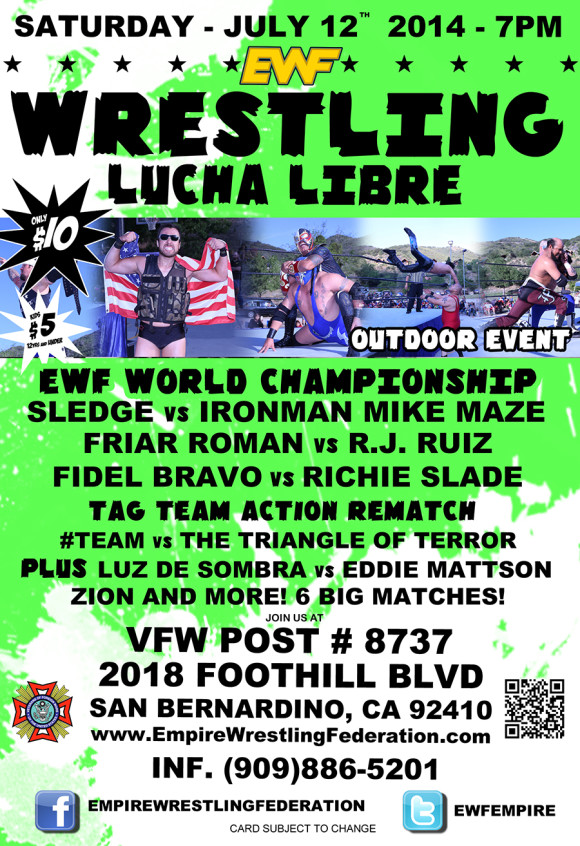 Saturday July 12th in San Bernardino, CA @ VFW 8737 | San Bernardino | California | United States
