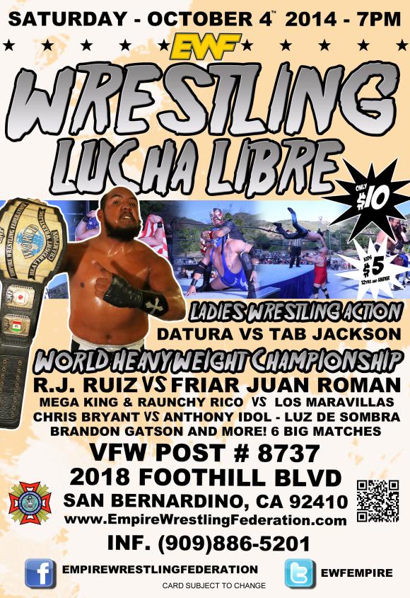 Saturday October 4th in San Bernardino, CA @ VFW 8737   San Bernardino   California   United States