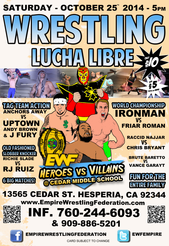 Saturday October 25th in Hesperia, CA @ Cedar Middle School | Hesperia | California | United States